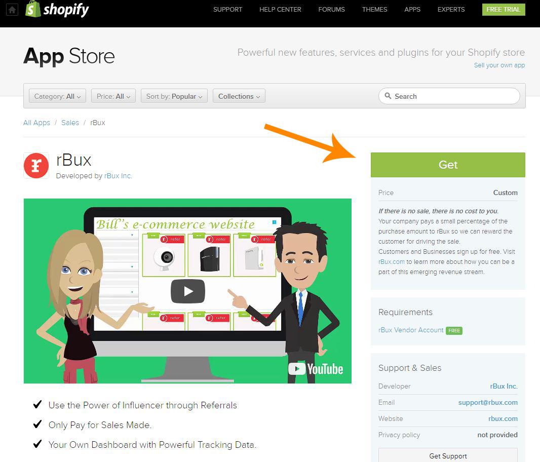 Shopify | rBux